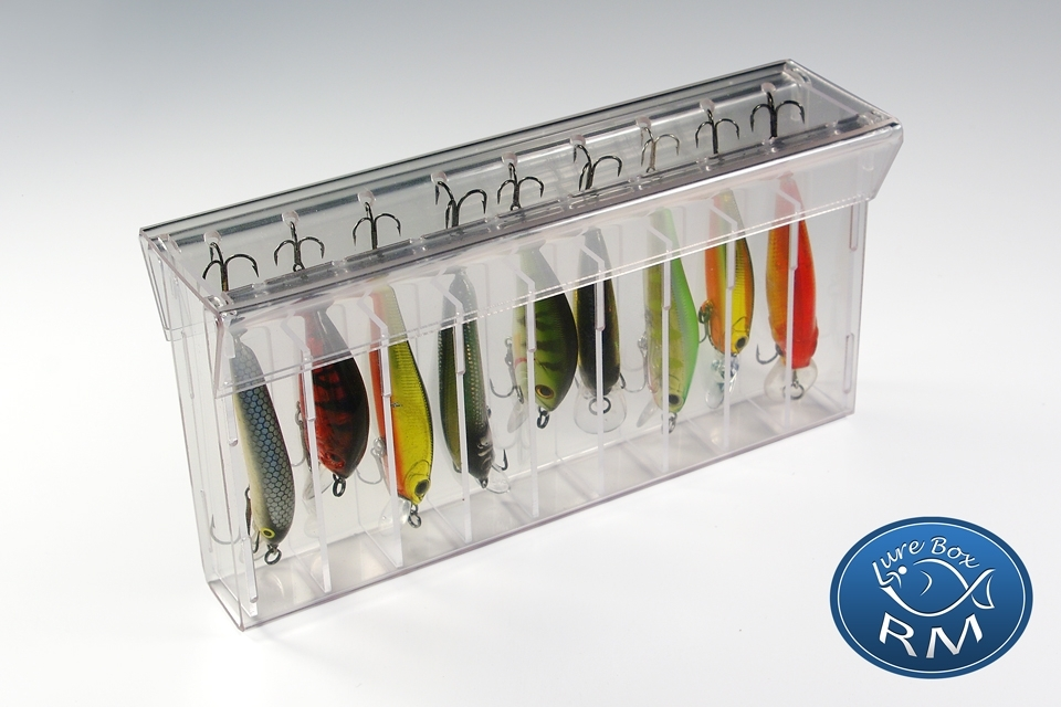 Малка единична кутия за примамки RM Lure Box Minnow 164/22/80